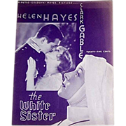 1933 The White Sister Movie Souvenir Program & Two Helen Hayes Publicity Photos
