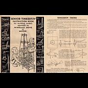 1941-1942 Senior Tinkertoy Instruction Book & Tinkertoy Tricks Pamphlet