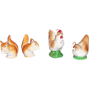 Squirrel and Chicken Salt and Pepper Shaker Sets