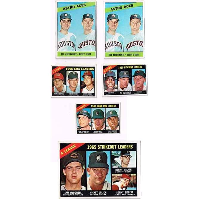 Nine 1966 Topps Baseball Cards