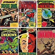 Six 1950's, 1960's, 1970's Science Fiction Comic Books