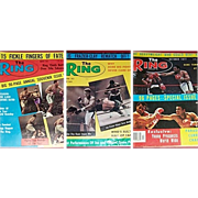 Three The Ring Magazines, March & April 1972, & October 1977