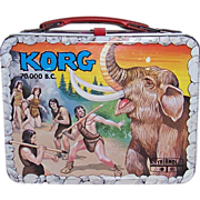 1975 Korg 70,000 B.C. Metal Lunch Box
