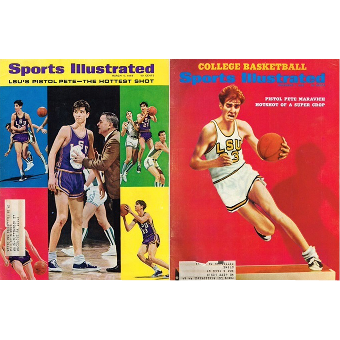 Pistol Pete Maravich Cover of 1968-69 Sports Illustrated Magazines