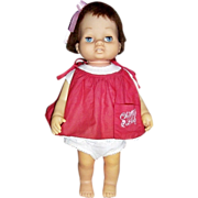 "1962 Mattel Tiny Chatty Baby Doll, 15"" Tall"