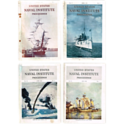 1950's Korean War U. S. Naval Institute Proceedings Magazines