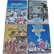 Four 1940's Christmas Annuals of Christmas Literature and Art, Just Beautiful