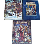 Three 1950's Christmas Annuals of Christmas Literature and Art, Wonderful Christmas Stories
