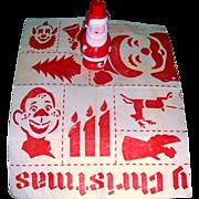 1950's Santa Soaky & Howdy Doody Christmas Stencils