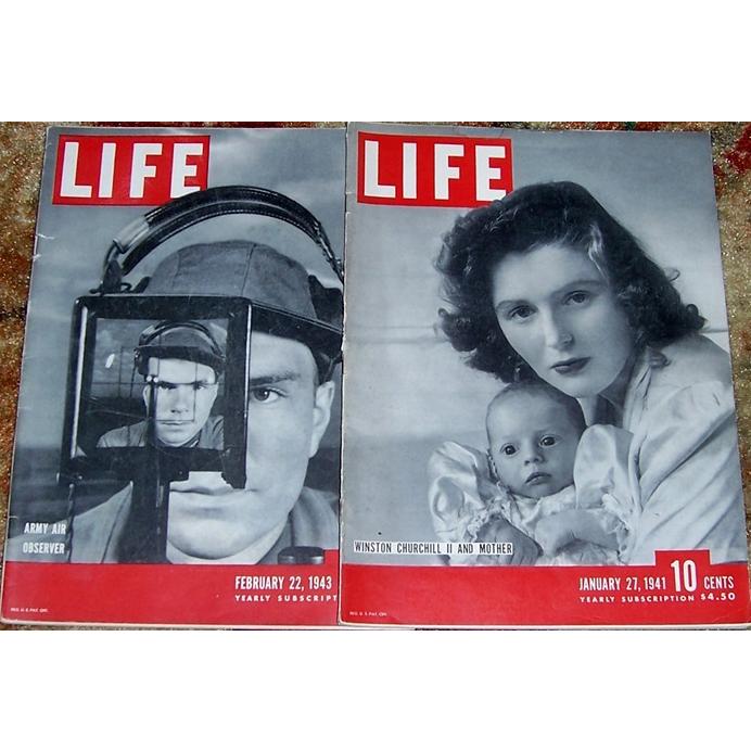 WWII Era Life Magazines, January 1941 & February 1943
