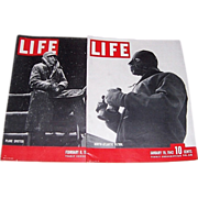 Two WWII Era Life Magazines, January 1942 and February 1943