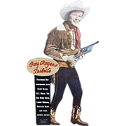 1991 Roy Rogers Stand-Up CD Promo Counter Top Display