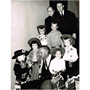 1960 Lyndon Johnson Photograph with Little Cowboys & Cowgirls