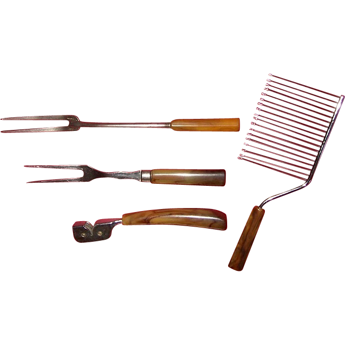Four Vintage Bakelite Kitchen Utensils