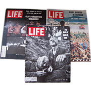 Three Life Magazines featuring the Vietnam War