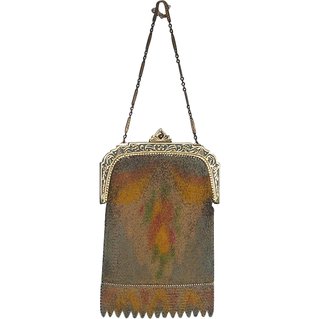 Evans 1920's/1930's Mesh Art Deco Design Purse