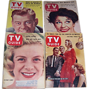 Four 1950's & 1960's TV Guides, Arthur Godfrey, Martha Raye, Rosemary Clooney, Stars of Peter Gunn & Mr. Lucky
