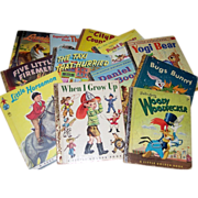 12 Children's Books, Tell-A-Tale, Little Golden, Tip-Top Elf