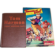 Tom Harmon Hard Cover Book & Treasure Chest Comic Book
