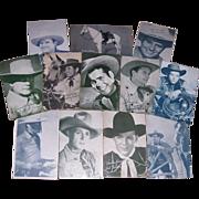 Twelve 1940's-50's Western Stars Penny Arcade Cards