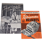 Two 1930's-40's Cookbooks & Green Handle Cookie Cutters