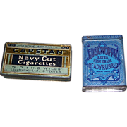 Vintage Capstan Navy Cut Cigarettes Tin and Edgeworth Tin