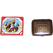 1940's Dick Custer Cigar Tin & Vintage Cigarette Compact Holder