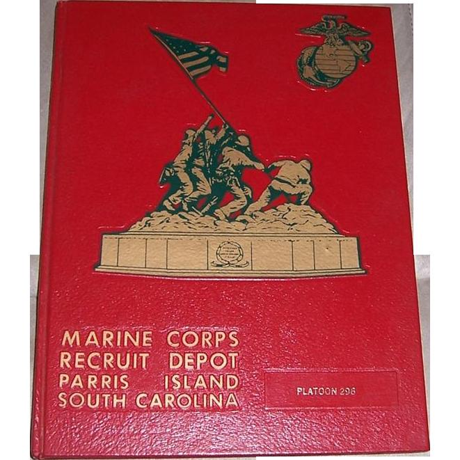 1976 Marine Corps Recruit Depot Parris Island Platoon 296 Yearbook