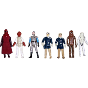 Seven 1970's & 1980's Star Wars Figures