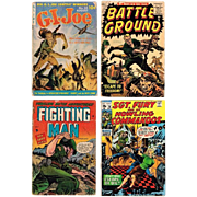 Four War Comics, 1953 G.I. Joe, 1956 Battle Ground, 1953 Fighting Man, 1970 Sgt. Fury and His Howling Commandos Comic Books