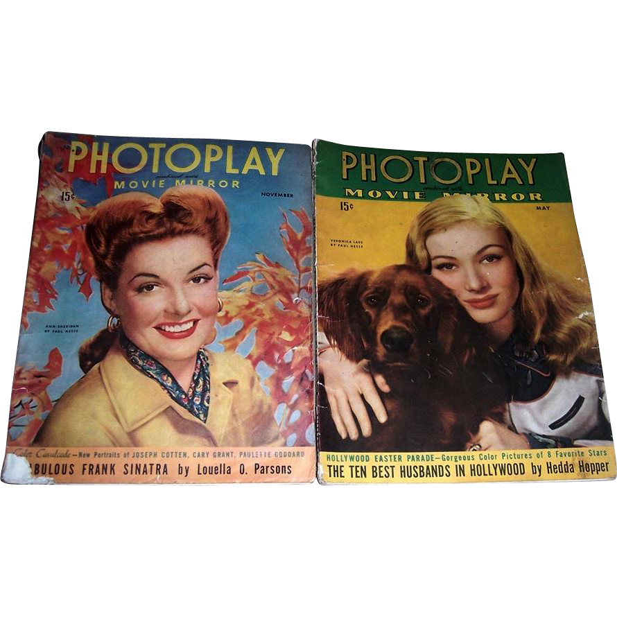 1943 Photoplay Movie Mirror Magazines, May and November