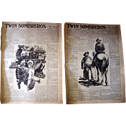 1940 Zane Gray Twin Sombreros Western Novel, Complete in NY Sunday News