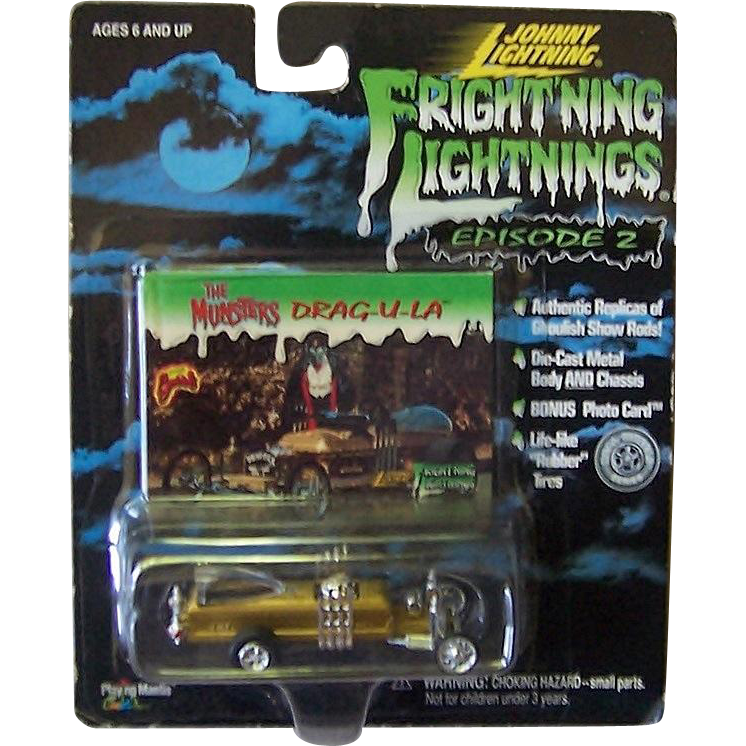 Munsters Drag-u-la Spook Rods Fright'ning Lightnings by Johnny Lightning, Mint in Package