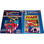 Superman Ltd. Collectors' Edition & Flash Famous 1st Edition Ltd. Collectors' Edition Comic Books