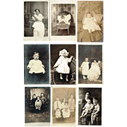 1900's Real Photo Postcards of Babies, Toddlers, Little Girls and Boys, Mothers