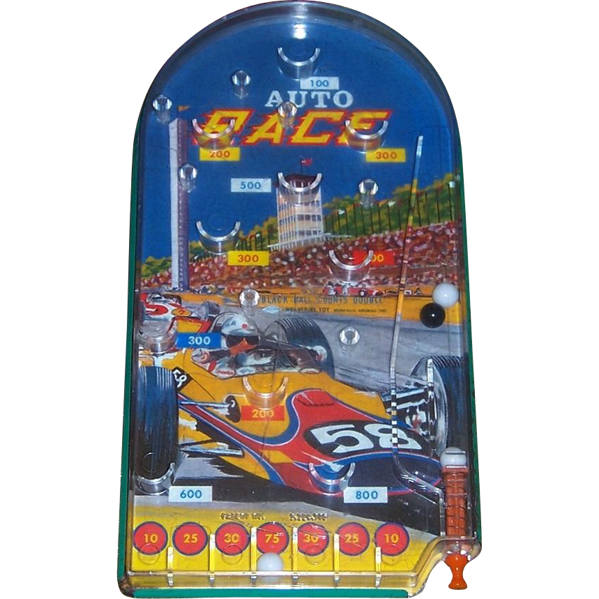 Vintage Auto Race Marble Game by Wolverine Toys