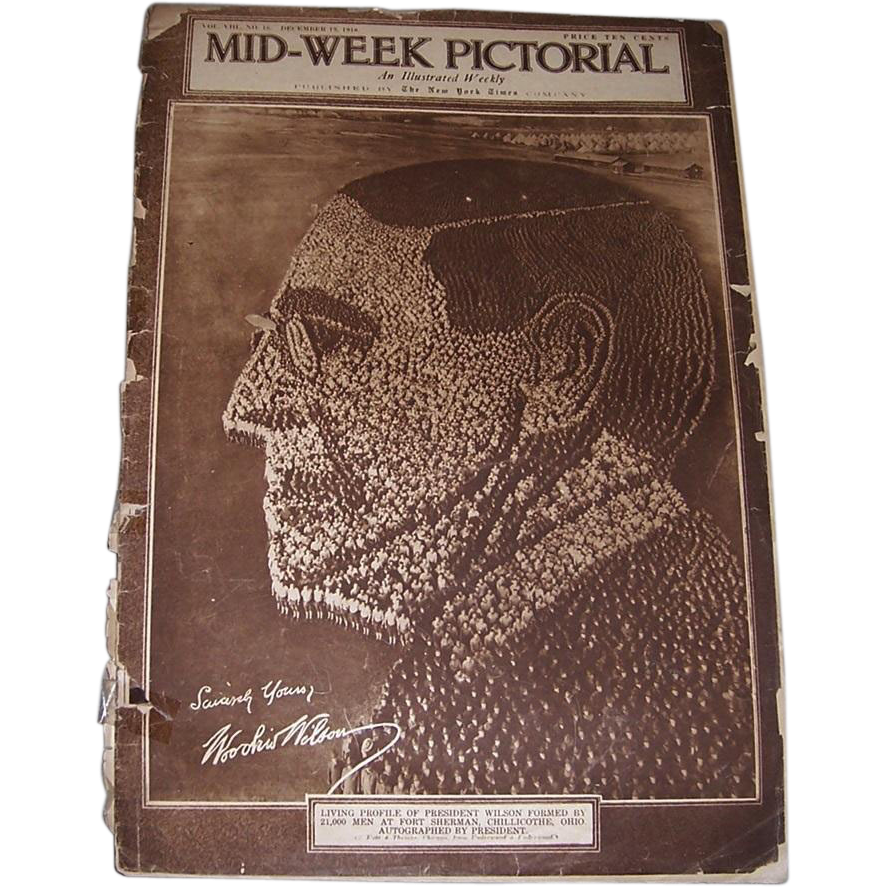 Eight WWI Era 1918/1919 Mid-Week Pictorial Newspapers