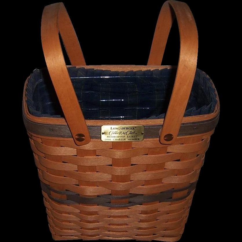 1995 Longaberger Collector Club Membership Basket, 1996 Charter Member