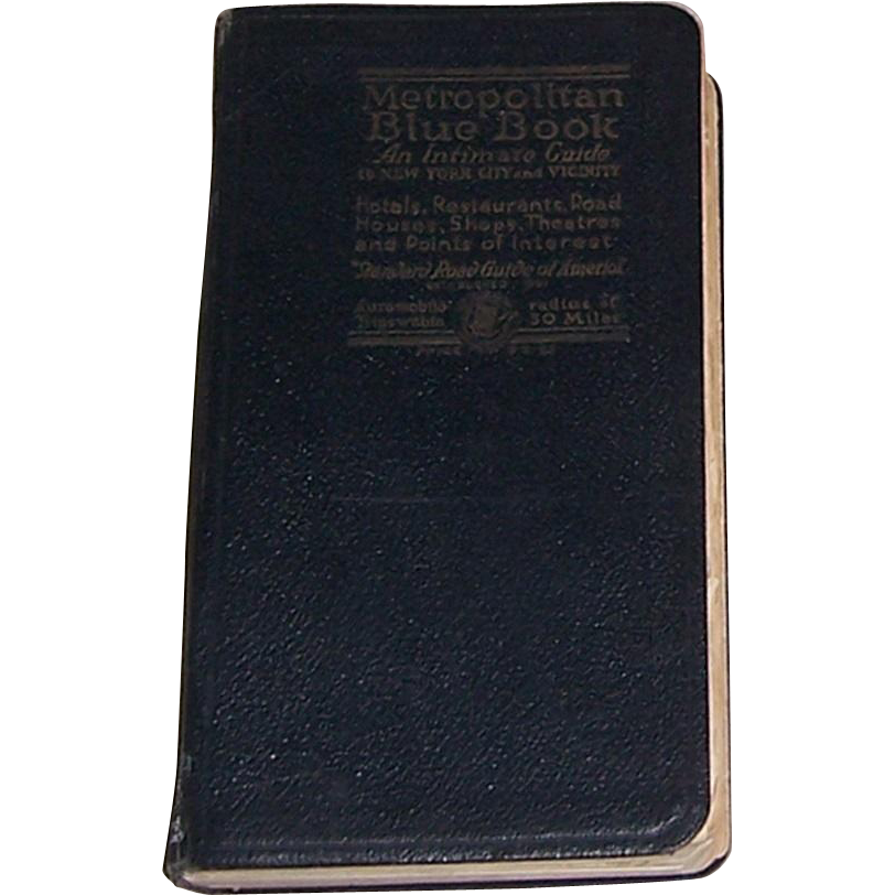 1919 Metropolitan Blue Book of New York and Vicinity