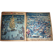 "1957 The American Weekly Featuring Pearl S. Buck's ""A Certain Star"", and 1960 The American Weekly Christmas Day Edition"