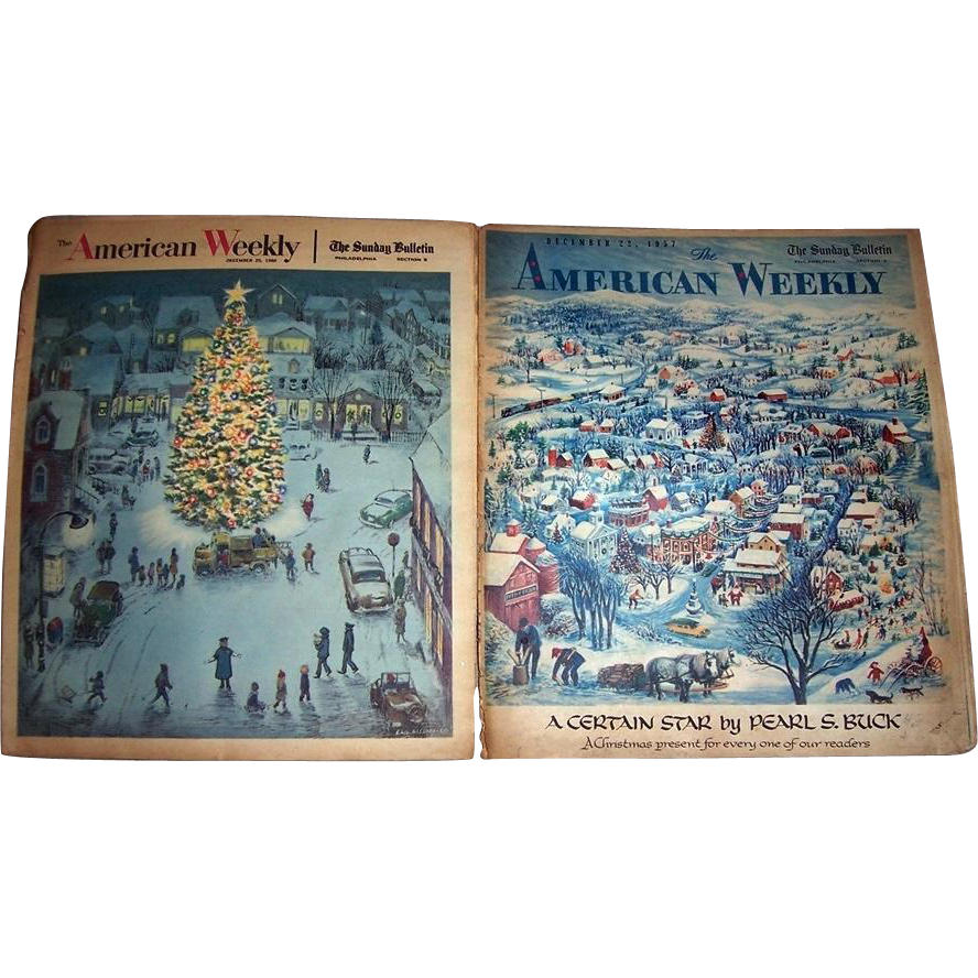"""1957 The American Weekly Featuring Pearl S. Buck's """"A Certain Star"""", and 1960 The American Weekly Christmas Day Edition"""