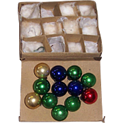 Occupied Japan Christmas Ornaments/Balls, Original Box