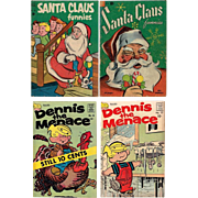 1950's/1960's Santa Claus Funnies and Dennis the Menace Comic Books
