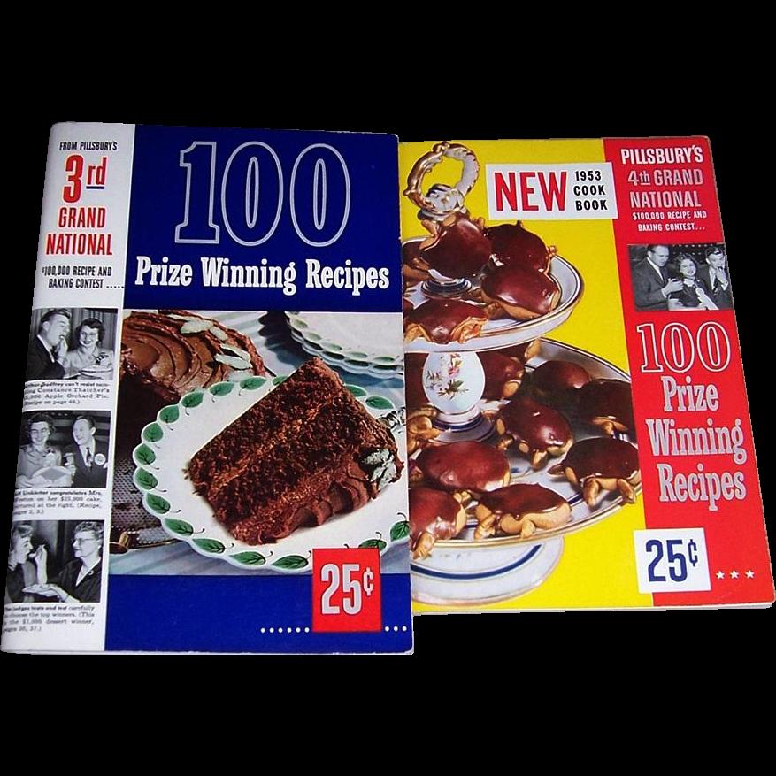1952 & 1953 Pillsbury's Grand National Cookbooks