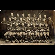 1923 Stack's Red Jacks Football Team Photo Postcard