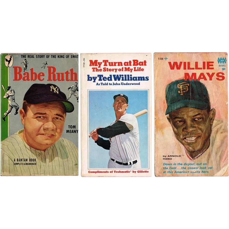 Ted Williams, Babe Ruth, Willie Mays Paperback Books
