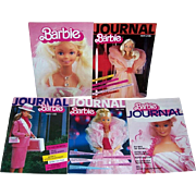 Five 1984/85/86 Barbie Journals in German