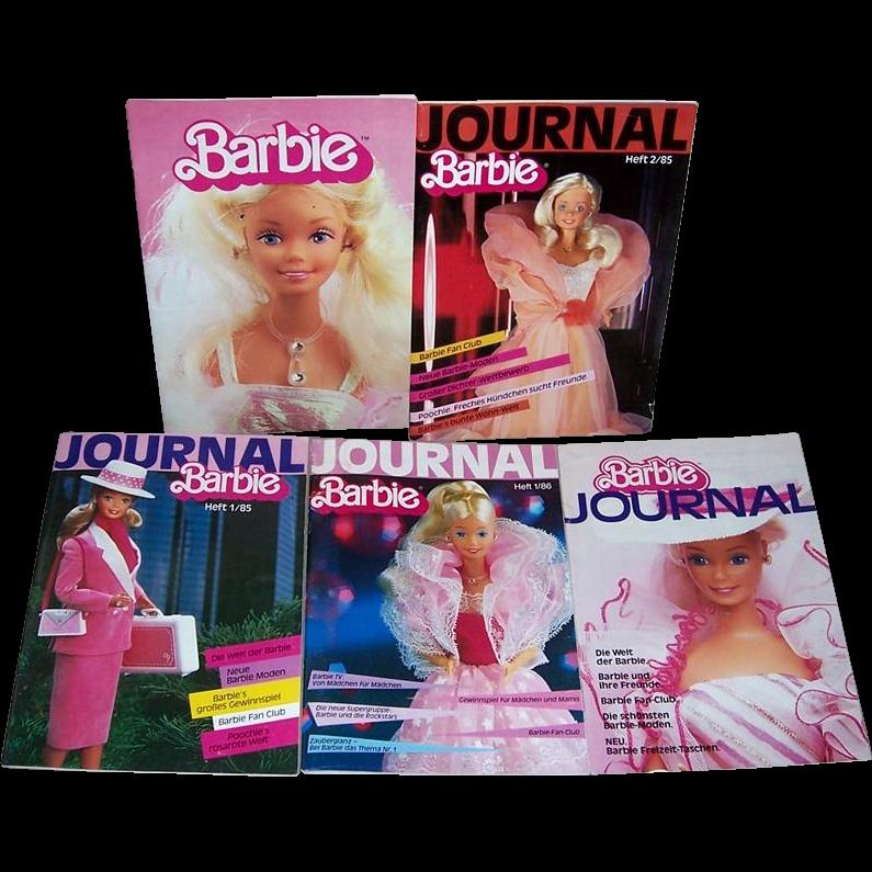 Five 1984/85/86 Barbie Journals in German