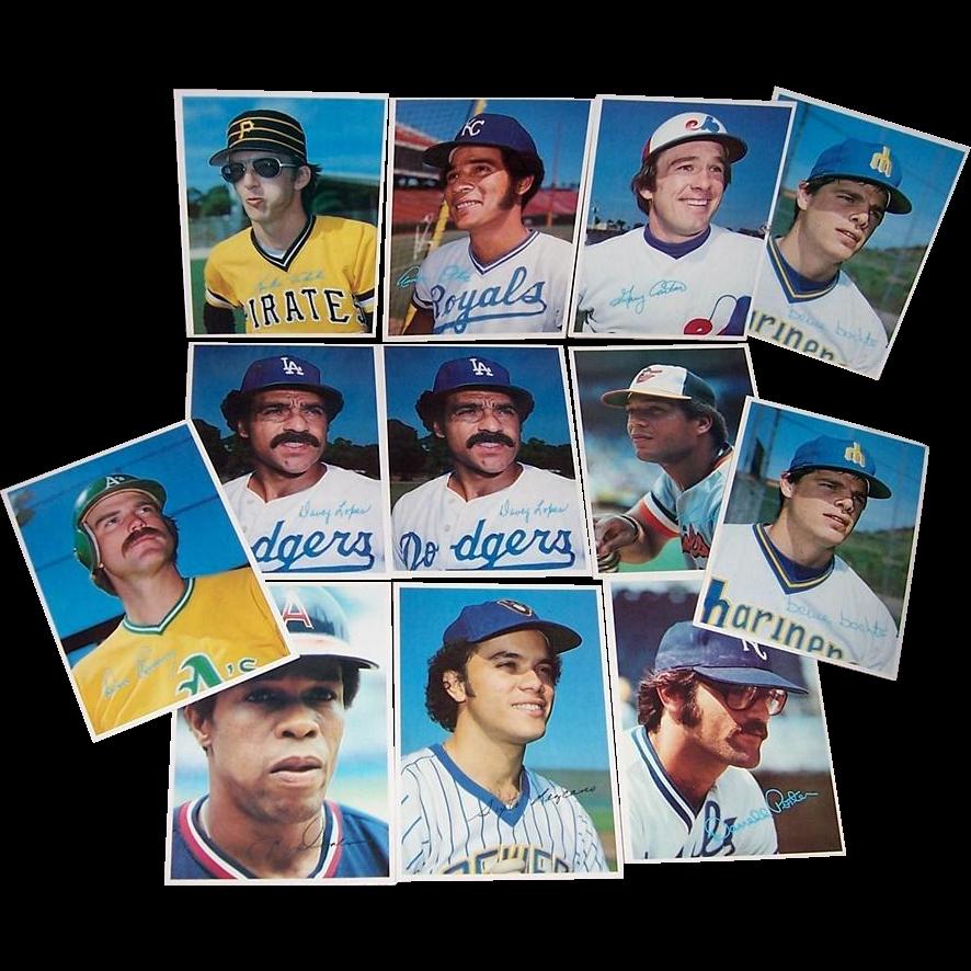 1980 Topps Baseball Superstars Photo Cards (Gray Back)