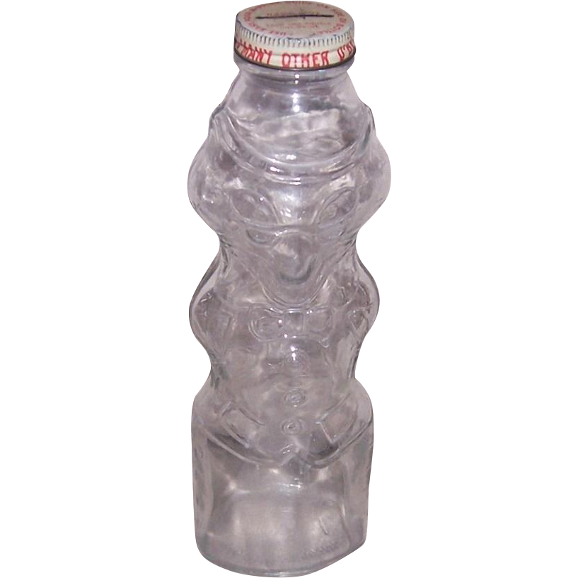 1950's Two Faced Fox Glass Bottle Bank